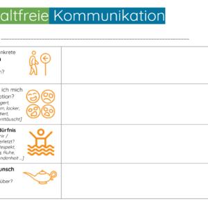 Arbeitsblatt Gewaltfreie Kommunikation - Teamentwicklung - Template - Vorlage