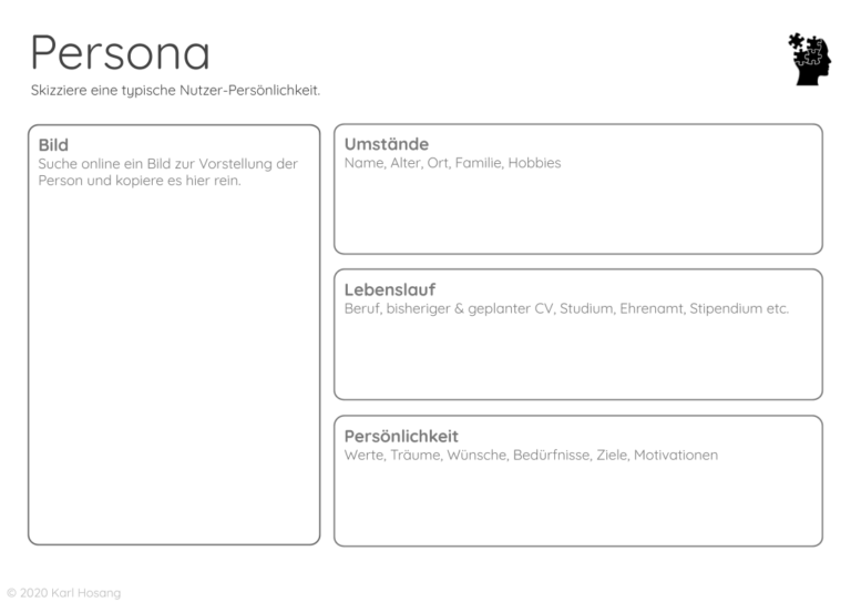 Persona- Entrepreneur-Business Development-Design Thinking-Creative Flow Team-Vorlage Templates