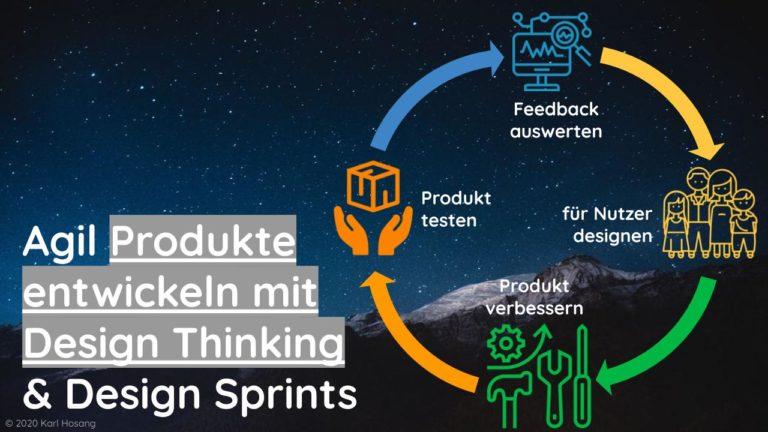 design thinking produktentwicklung, design sprints, kreativität, agil