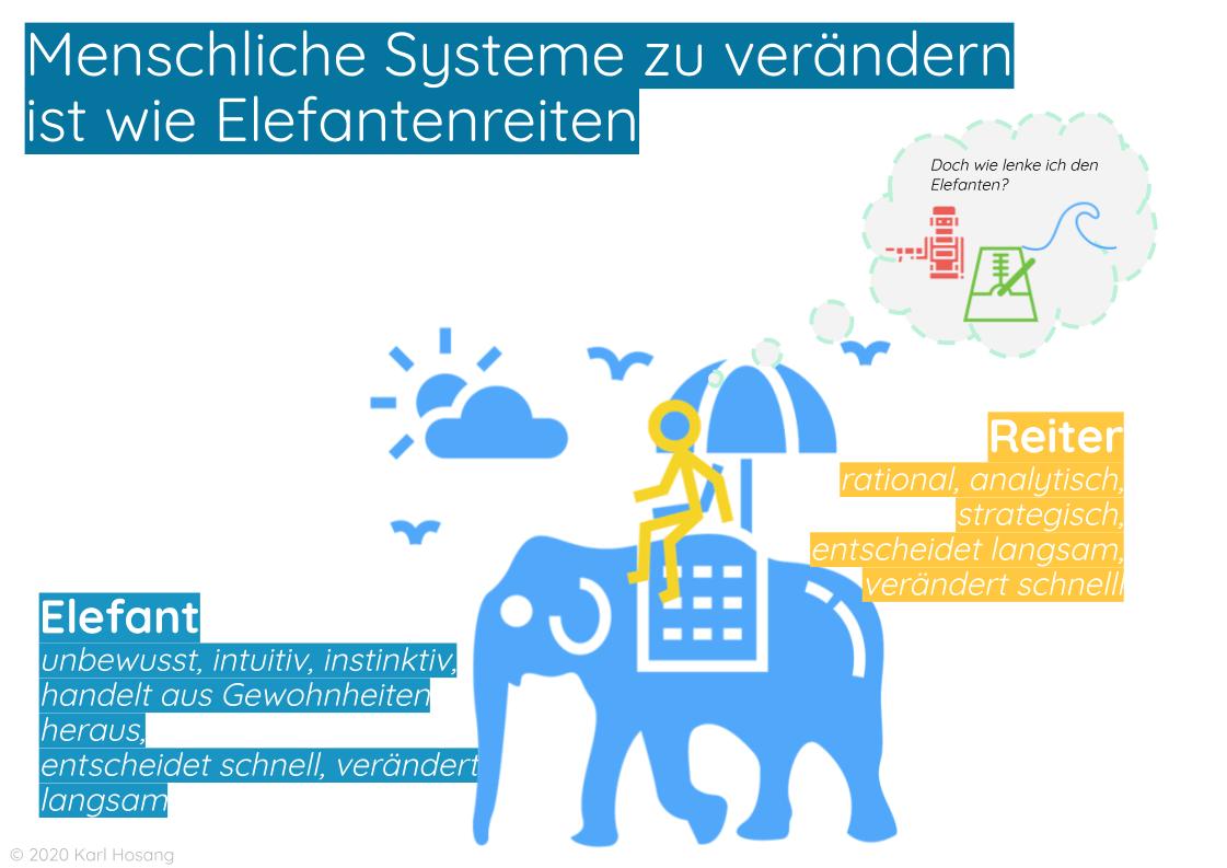 Menschliche Systeme verändern Elefanten reiten - Veränderung gestalten - System Change