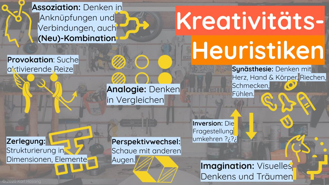 Kreativitäts- Heuristiken-Prinzipien-Kreativitätstechniken-Kreativitätsmethoden-kreativer werden