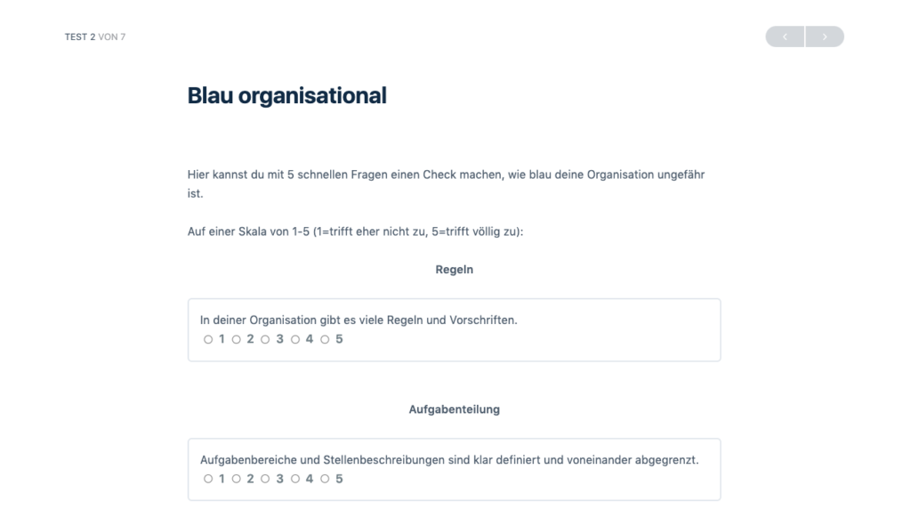 Screenshot Blau Organisational SD