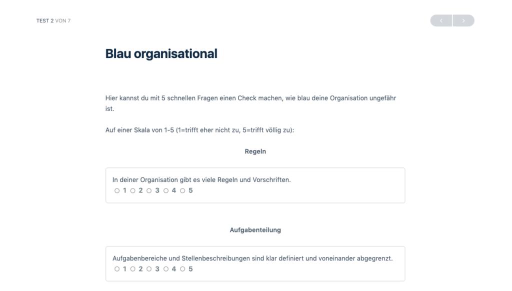 Screenshot Blau Organisational SD