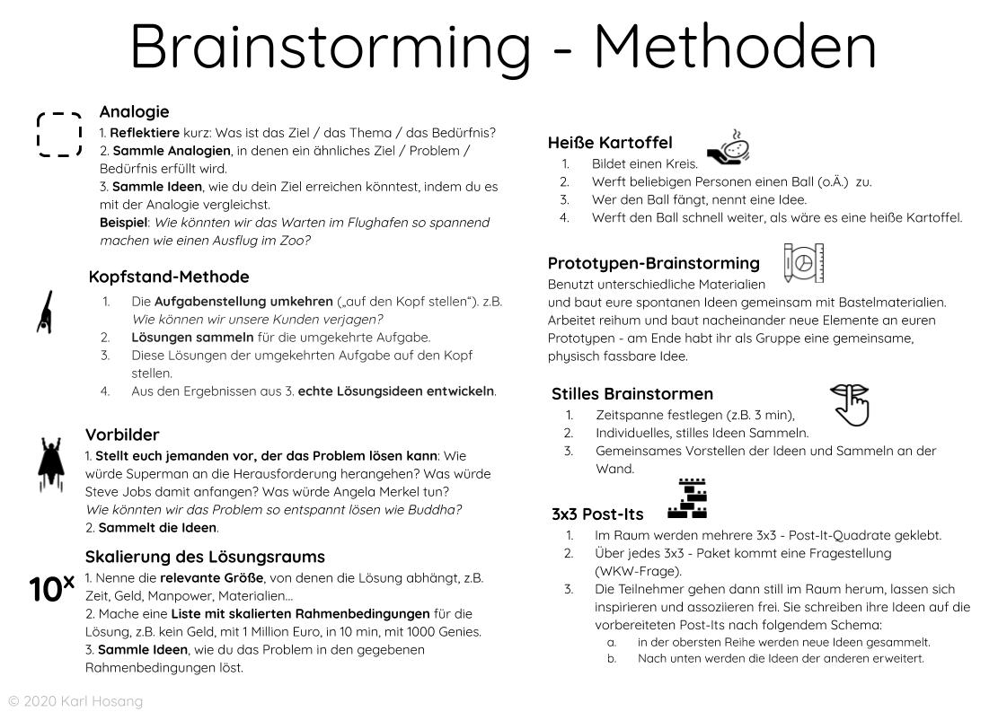Brainstorming-Methoden-Kreativität-Ideen finden - kreativ werden