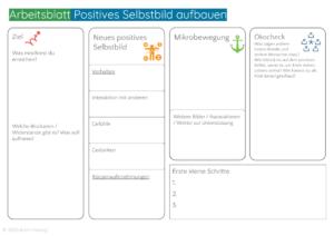 Arbeitsblatt Positives Selbstbild aufbauen - Coaching - NLP - Psychologie - Selbsterfüllende Prophezeihung nutzen