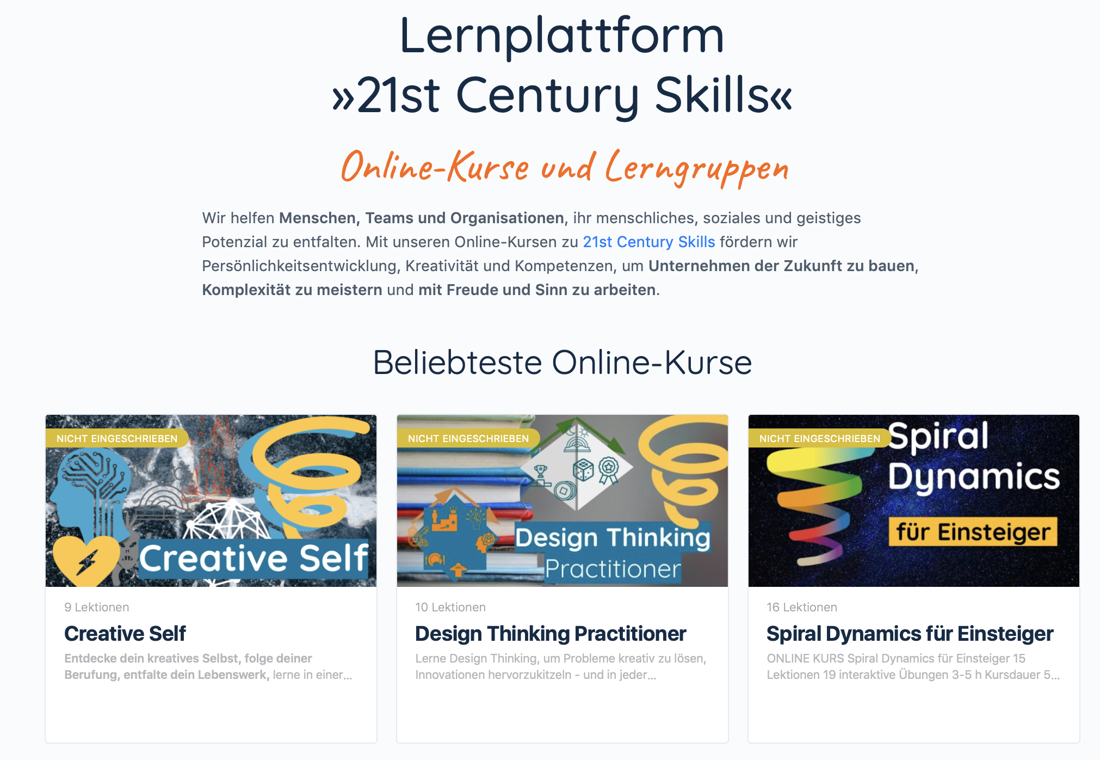 Online-Kurse Lernplattform erstellen